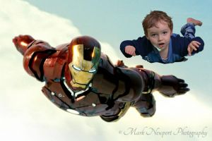 Harry flying with Ironman