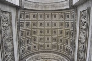 Under the Arc de Triomphe
