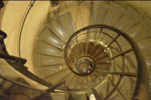 Spiral stairs in the Arc de Triomphe