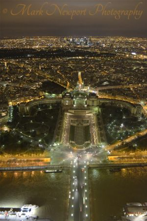 From the top of Eiffel Tower
