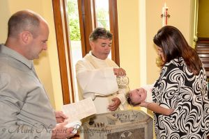 Zach Getting Christened