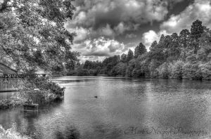 Lake at Tredegar House, Wales